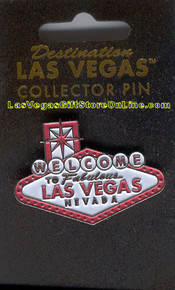 Las Vegas Welcome Sign Pink Lapel Collector Pin