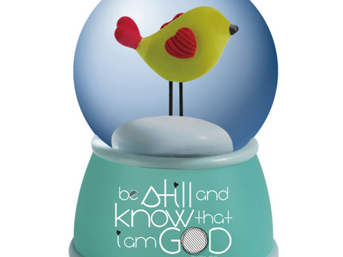 'Be Still and Know' Water Globe