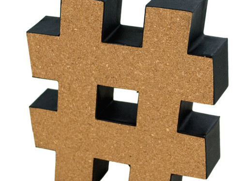 '#' Decorative Cork Board Symbol