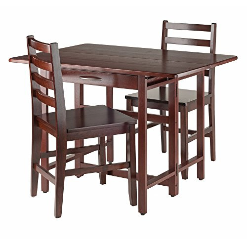 Winsome Wood Taylor 3-PC Set Drop Leaf Table W/ Ladder Back Chair  sc 1 st  Dejavujewelry.com & Winsome Wood Taylor 3-PC Set Drop Leaf Table W/ Ladder Back Chair ...