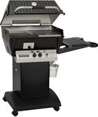 BROILMASTER QRAVE Q3PK1 PACKAGE WITH BLACK CART AND 1 SIDE SHELF IN PROPANE Q3PK1