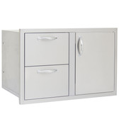 BLZ-DDC-R Blaze 32 Inch Access Door & Double Drawer Combo