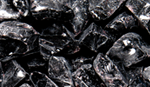 GLO-BLACK  Onyx Black Large Crushed Glass Media, 5lb bag
