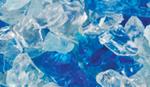 GLO-SAPPHIRE Sapphire Blue Large Crushed Glass Media, 5lb bag