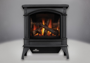 The Napoleon Knightsbridge™ Gas Stove has always been successful and in popular demand for its solid performance and impressive heating efficiencies. The Knightsbridge™ comes standard with Napoleon's PHAZER® log set, glowing embers, anti-condensation switch (controls pilot usage for cold climate installations) and electronic ignition with battery back-up. With its larger viewing area and new elegant fine detailing and sleek, more sophisticated outer casting design, the Knightsbridge™ now offers much more than it's predecessor.
