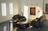 This tall, dark, handsome fireplace features a unique, clean, frameless design with advanced burner technology, creating the most realistic flames in the industry. The Napoleon Park Avenue™ Gas Fireplace deluxe model is offered as a complete package including an exclusive NIGHT LIGHT™, heat circulating blower, multi-function remote control (controlling the flame, blower and NIGHT LIGHT™), and PHAZERAMIC™ advanced flame burner technology. Exclusive designer accessories make the Park Avenue™ perfect for any room in your home.