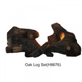 Oak Log Set LOG-OAK-MDLX4045