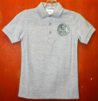 Youth Short Sleeve Polo with Logo- De La Salle