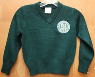 Youth V-Neck Pullover Sweater- De La Salle