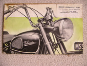 1954 Velocette 500 and 350 for sale brochure catalog