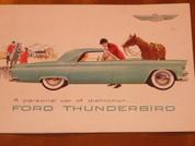 1955 Ford Thunderbird brochure catalog
