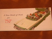 1957 Ford Retractible Skyliner  Hide-Away brochure catalog