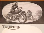 1959 Triumph motorcycle line