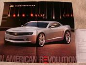2006 factory Camaro poster sales brochure