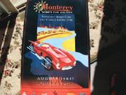 1998 Monterey Historic car race/auction poster