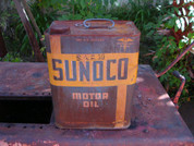 Sunoco large oil can 1950's