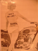 Triumph 650 poster with naked girl