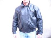 vintage retro black leather motorcycle jacket