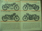 1953 Vincent motorcycle brochure catalog