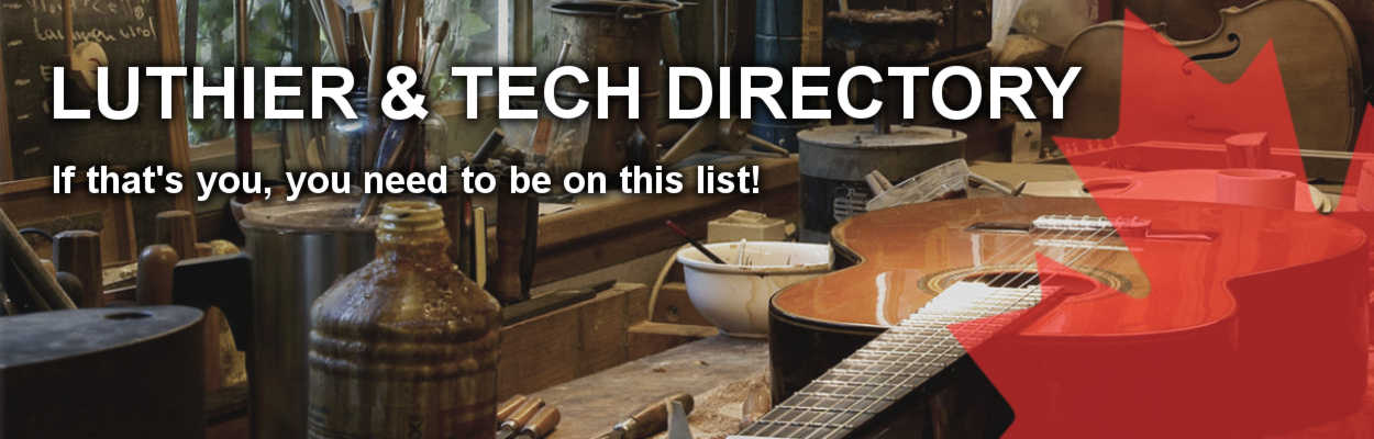 Canadian Luthier/Tech Directory