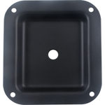 "Jack Plate - 1/4"" Square Black Metal"