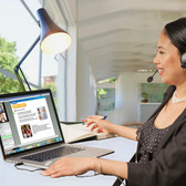 Learn a language with a real, live instructor from your home, office or anywhere with an Internet connection.  Enjoy the undivided attention, interaction and real-time feedback of a highly trained Berlitz instructor without traveling.   Now you have maximum flexibility to schedule learning at your convenience to meet your personal or professional goals.   As an added benefit, sessions are recorded, so you can review them later.