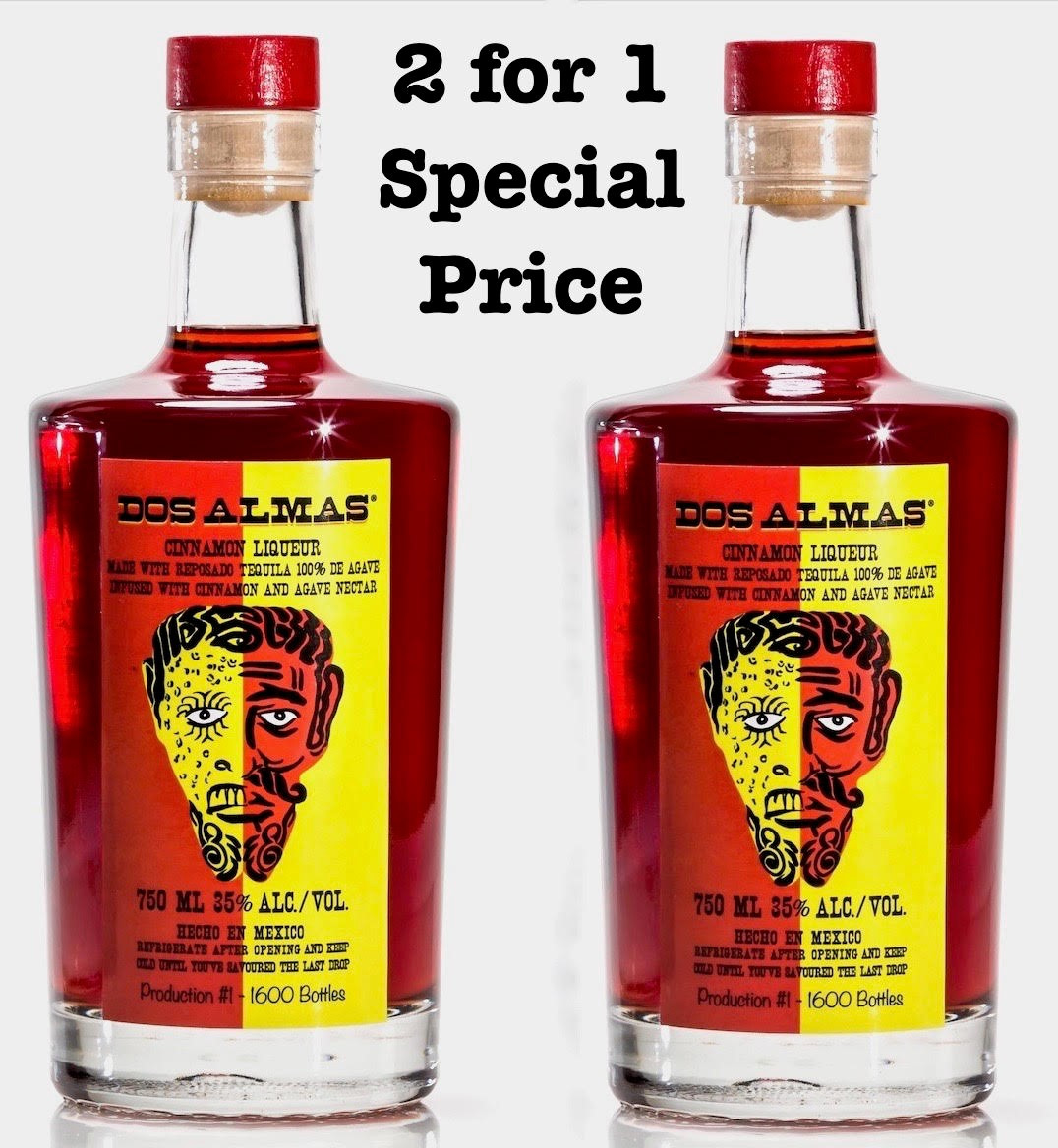 DOS ALMAS CINNAMON LIQUEUR Two for price of one