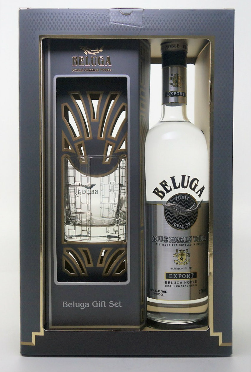 Beluga Export Vodka Gift Set With Glass - Www.oldtowntequila.com