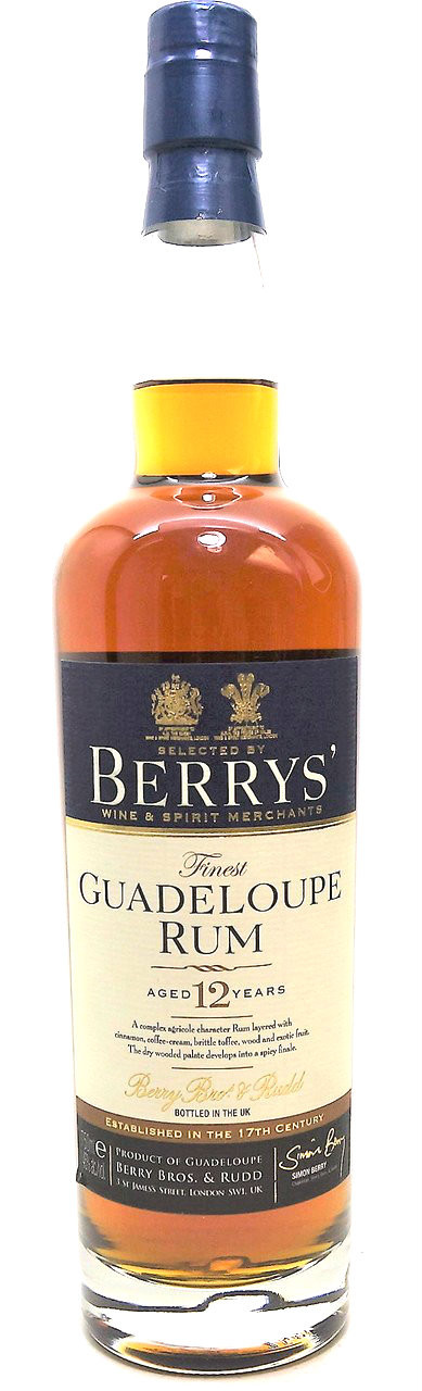 Berry's Guadeloupe Rum 12 years