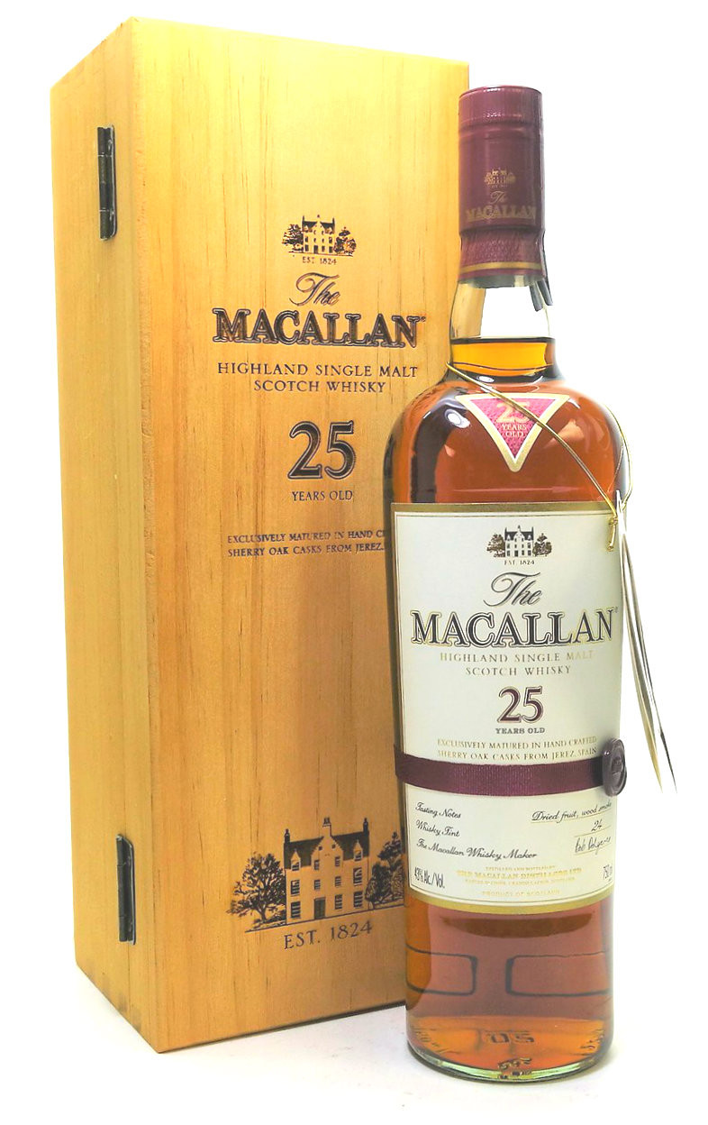 The Macallan 25 Year Old Sherry Oak Single Malt Scotch Whisky