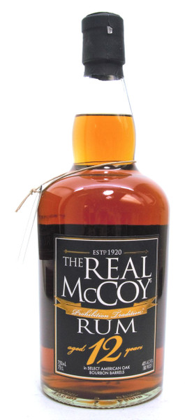 The Real McCoy Rum 12 years Prohibiton Tradition