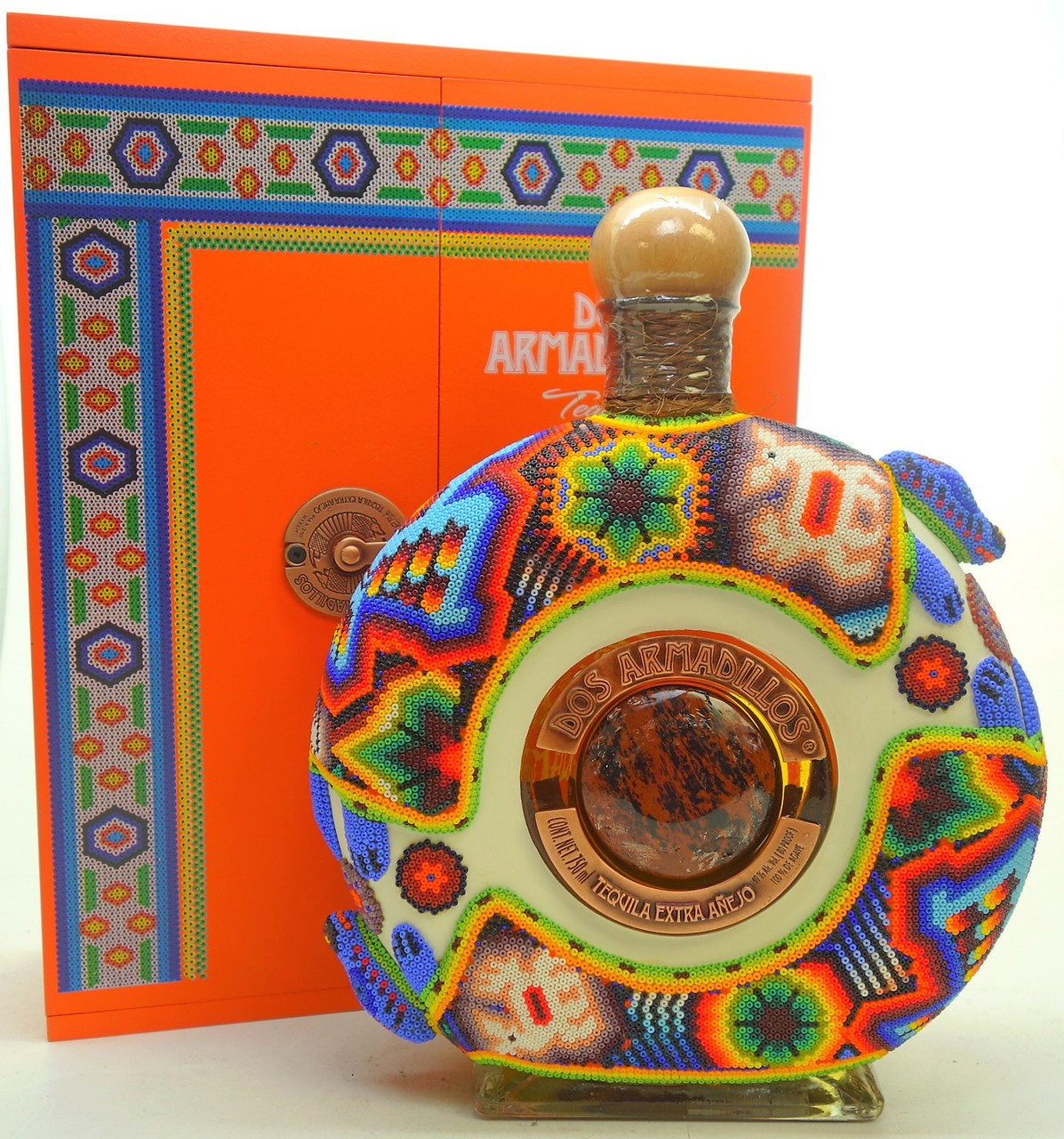 Dos Armadillos Oaxaca artist Edition Bead Orange Box