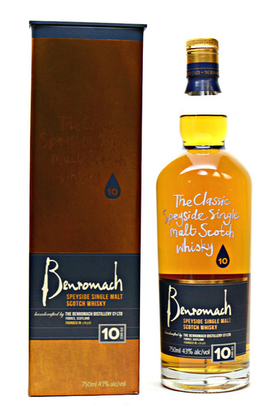 Benromach Speyside Single Malt scotch Whisky 10yr