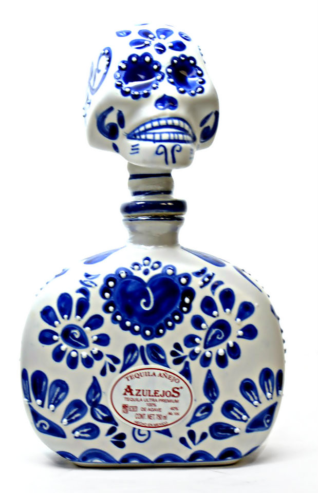Azulejos Anejo Ceramic blue and white Skelly