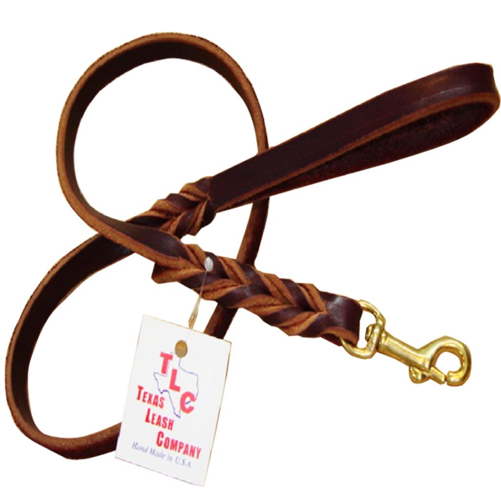"Original Braided Leather Leash - ⅜"""