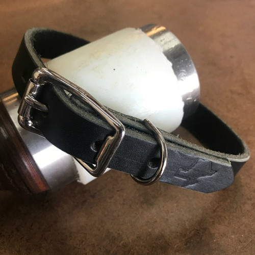 """""""Classic"""" Leather Collar - Nickel Silver Hardware"""