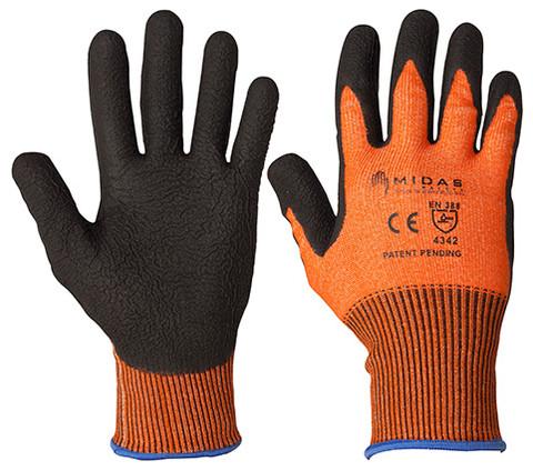 Fortis Wave Cut 3 HPPE Nitrile Coated- Orange
