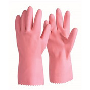 Pink Silver Lined Latex Rubber Glove