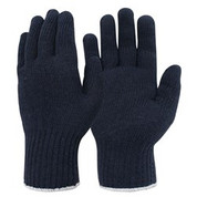 Knitted Poly Cotton Mens Glove Navy