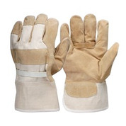 Pigskin Leather Canvas Back Work Glove