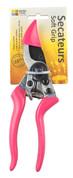 Secateurs Bypass Soft Grip Pink
