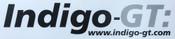 Indigo-GT Vinyl Sticker 41cm - Black