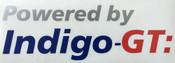 Indigo-GT Vinyl Sticker 24cm - Powered By