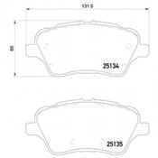 Mintex Front Brake Pads Fiesta ST180