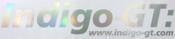 Indigo-GT Vinyl Sticker 41cm - Oil Slick