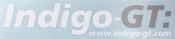 Indigo-GT Vinyl Sticker 41cm - White