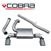Cobra Cat Back Exhaust (Valveless / Non Resonated) - Focus RS MK3
