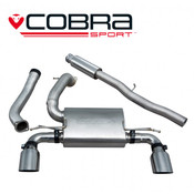 Cobra Cat Back Exhaust (Valveless / Resonated) - Focus RS MK3