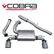 Cobra Cat Back Exhaust (Valveless / Resonated) - Focus RS MK3