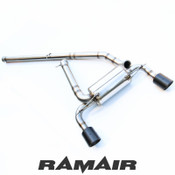 Focus RS Mk3 Performance Stainless Steel Cat Back Exhaust System with Carbon Fibre Tails
